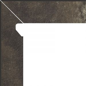 Cokol schodowy dwuelementowy Scandiano Brown Lewy
