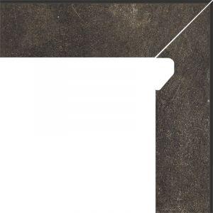 Cokol schodowy dwuelementowy Scandiano Brown Prawy