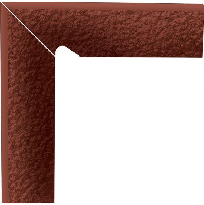 2-element textured stair skirting board Cloud Rosa Duro