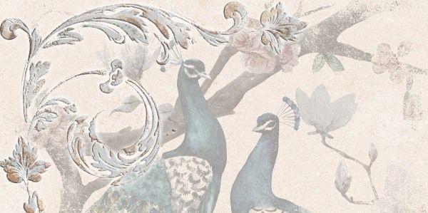 PANEL PAVANA BIRDS 1 LIGHT BEIGE 25X50 CM