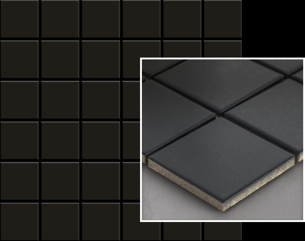 Albir Nero Mozaika Prasowana K.4,8X4,8