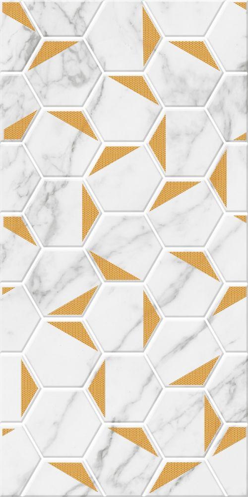 DECOR MARBLE HEXX GOLD WHITE