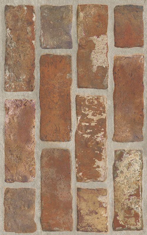 Loft Brown Sciana Struktura Brick
