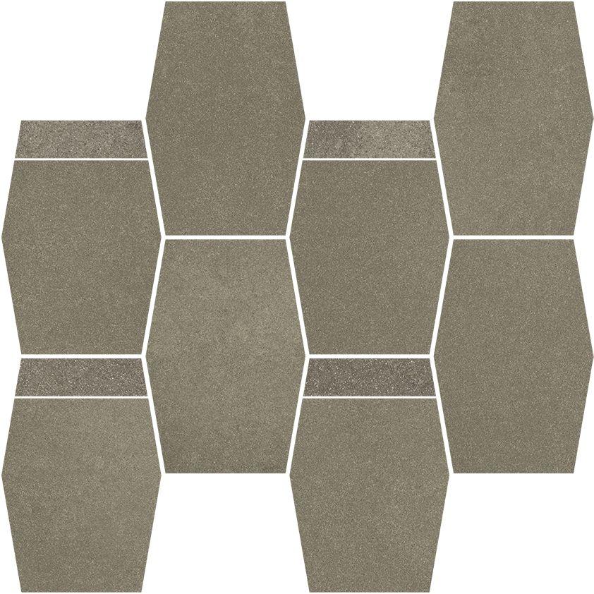 Naturstone Umbra mozaika cięta hexagon mix