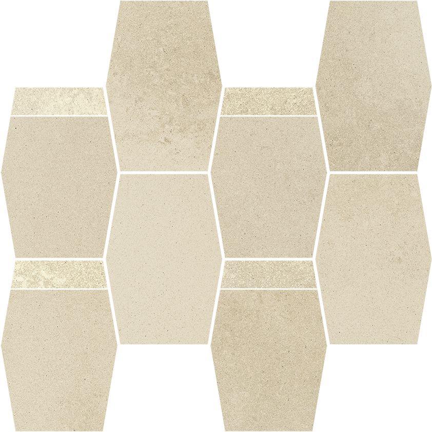 Naturstone Beige mozaika cieta hexagon mix