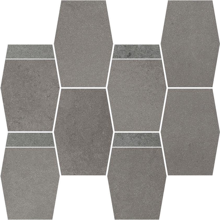 Naturstone Grafit mozaika cięta hexagon mix