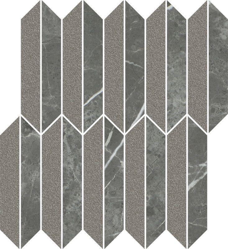 Noisy Whisper Graphite Mozaika Cięta Mix Mat 29.8x27.4