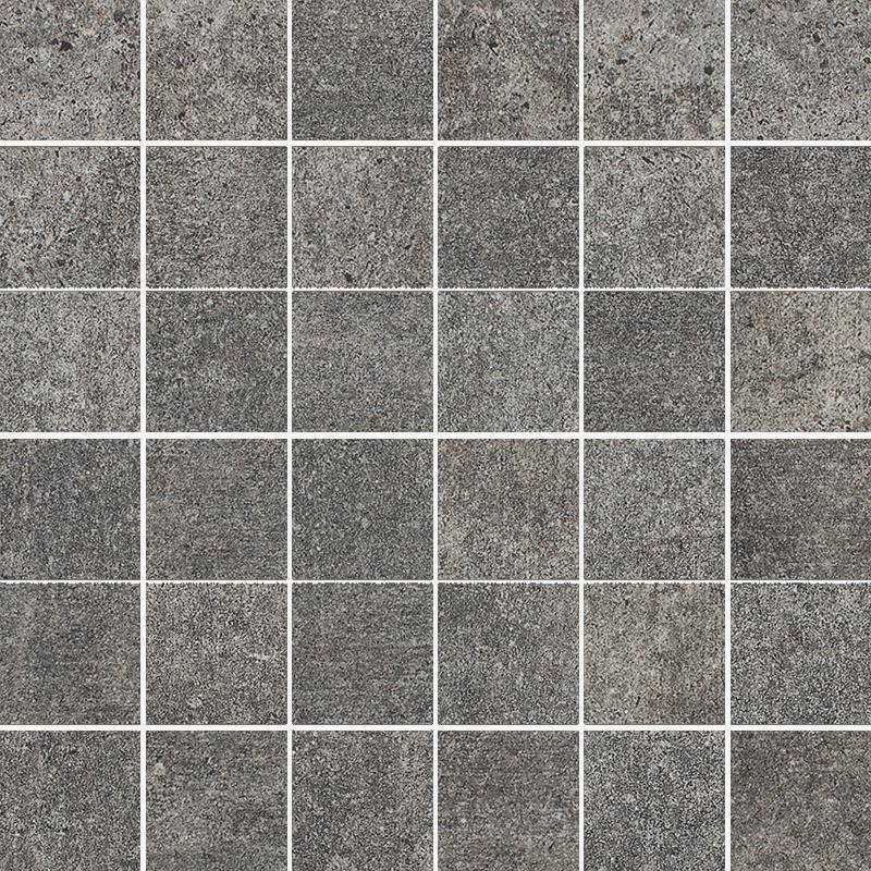 Riversand Grafit Mozaika Cięta K.4,8X4,8 Półpoler