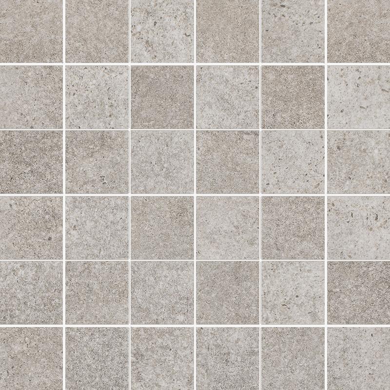 Riversand Grys Mozaika Cięta K.4,8X4,8 Półpoler