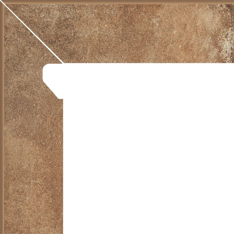 Cokol schodowy dwuelementowy Scandiano Rosso Lewy