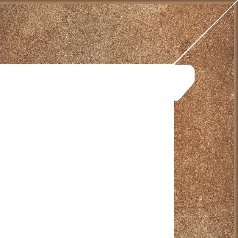 Cokół schodowy dwuelementowy Scandiano Rosso Prawy