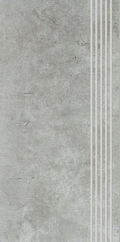 SCRATCH GRYS STOPNICA PROSTA NACINANA POLPOLER 29,8X59,8