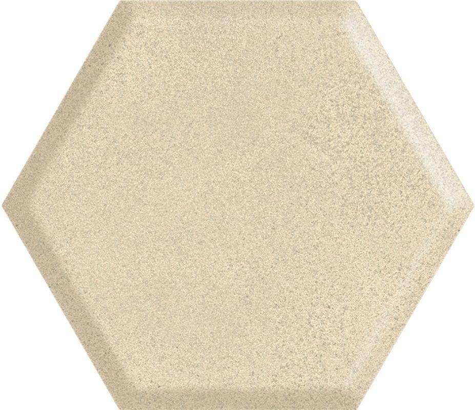 Serene Beige Heksagon Struktura Ściana