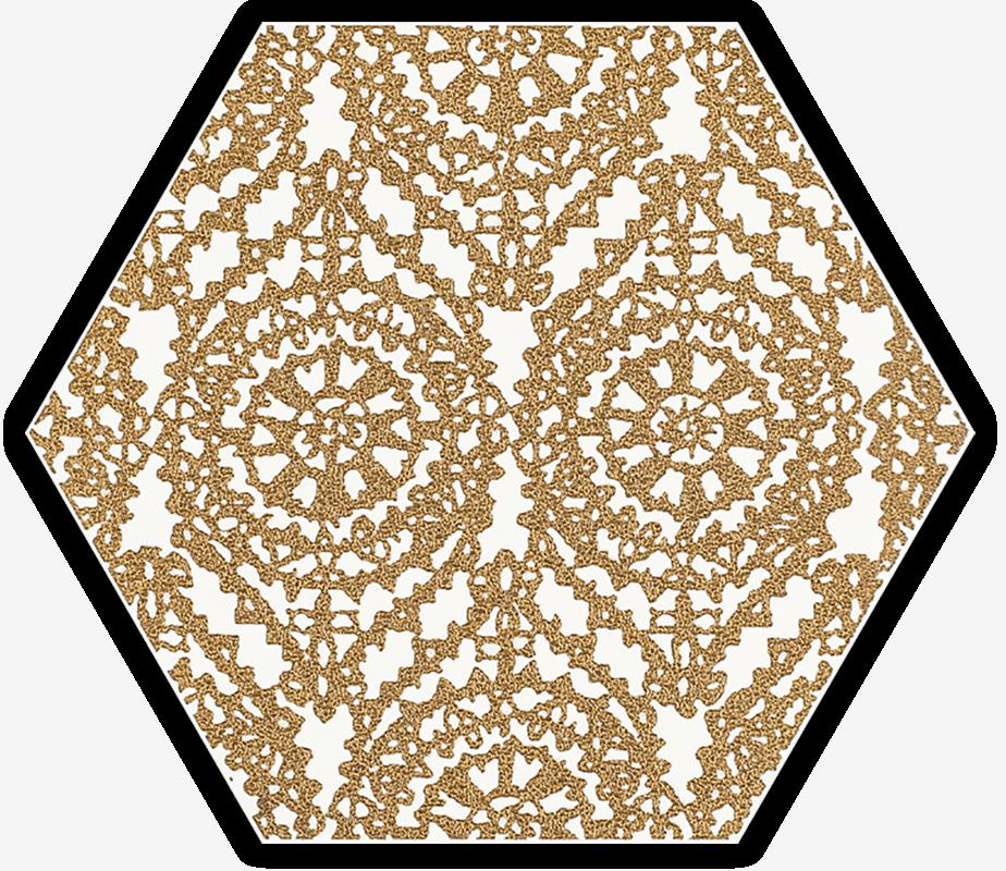 Shiny Lines Gold Heksagon Inserto A
