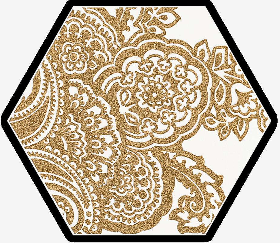 Shiny Lines Gold Heksagon Inserto B