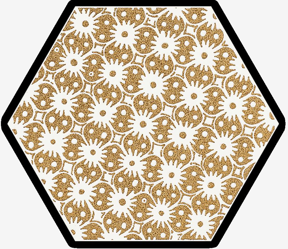 Shiny Lines Gold Heksagon Inserto D