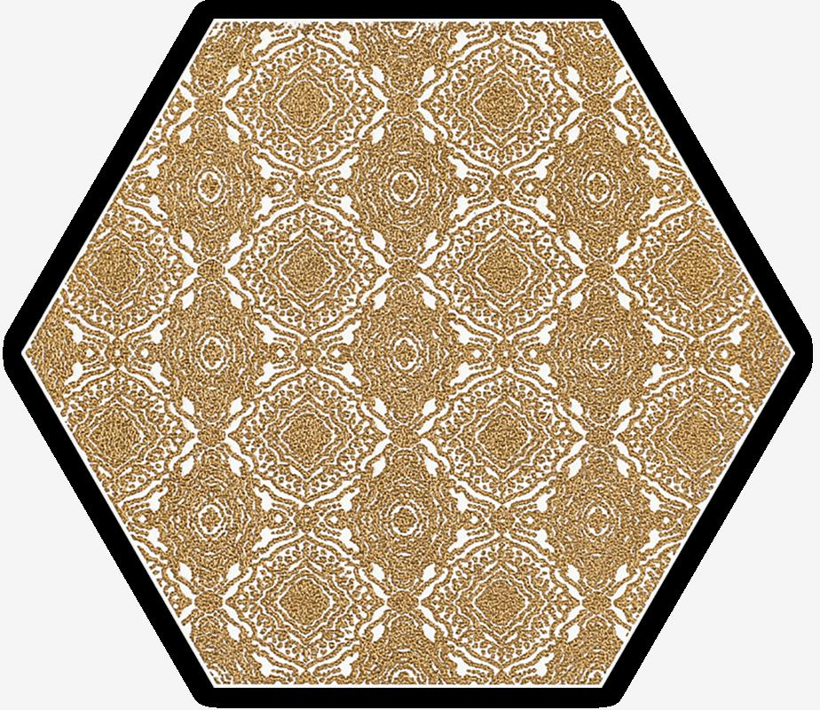 Shiny Lines Gold Heksagon Inserto E