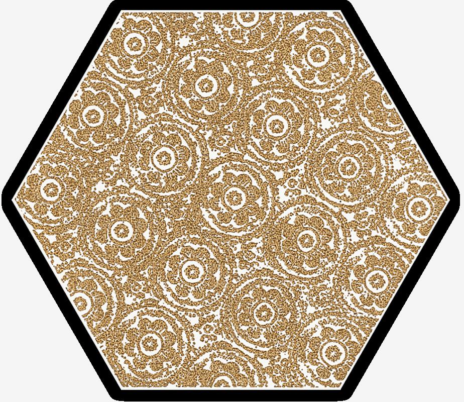 Shiny Lines Gold Heksagon Inserto F