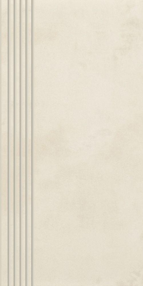 Tecniq Bianco stair tread semi polished