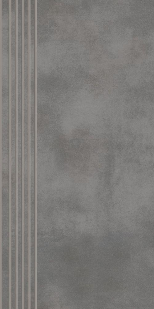 Tecniq Grafit stair tread semi polished