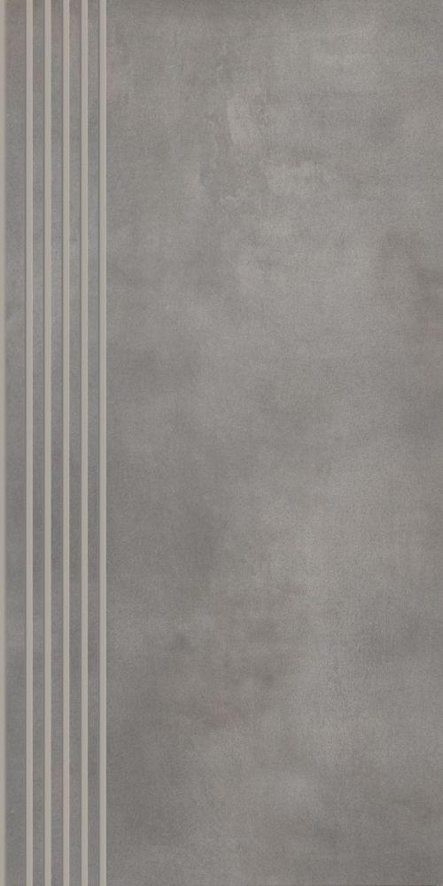 Tecniq Silver stair tread semi polished