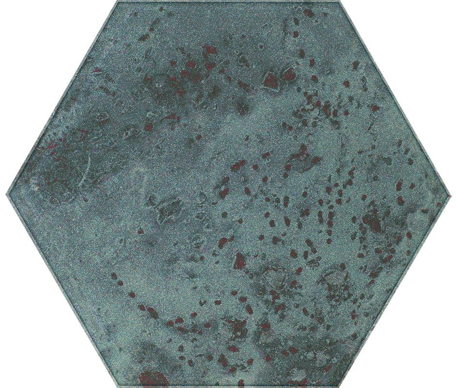 Unique Lady Green Inserto Szklane Heksagon 19.8x17.1