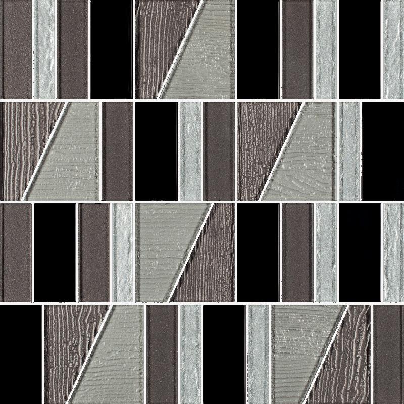 Uniwersalna Mozaika Szklana Nero Paradyż Tiffany Mix  29.8x29.8