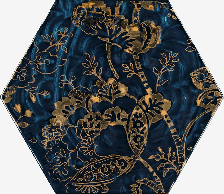 Urban Colours Blue Inserto Szklane Heksagon C 17.1 x 19.8 cm